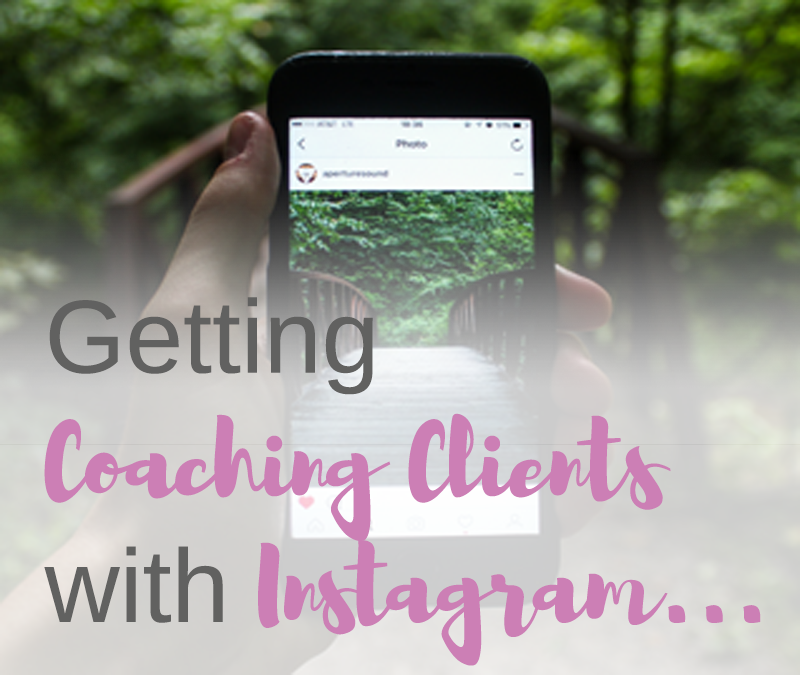 Getting coaching clients with Instagram